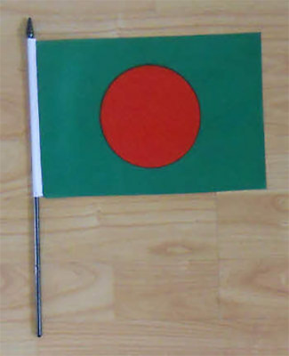 Bangladesh Country Hand Flag - medium