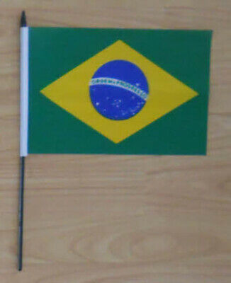 Brazil Country Hand Flag - medium