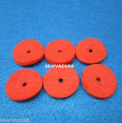 SINGER SEWING MACHINES 15 CLASS SPOOL Red FELTS # 8879 (6)