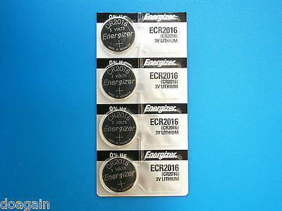 4X ENERGIZER CR2016 Lithium Coin Cell Button Batteries AU Fast Free Postage