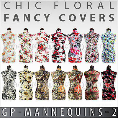 Chic Fancy Cover For Female Tailors Mannequin Decorative Floral Patterned Design
