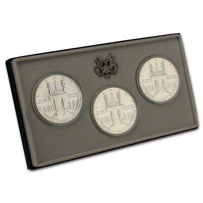 """1984 US Olympic """"PDS"""" 3-Coin Commemorative BU Set"""