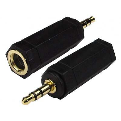 6.35mm 1/4 Socket to 3.5mm Jack Adapter Professional Headphone  to Small Jack