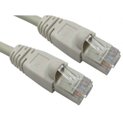 BEIGE 5m Cat6 GIGABIT Shielded Snagless Network Cable Ethernet 5 Metre Cat 6 new