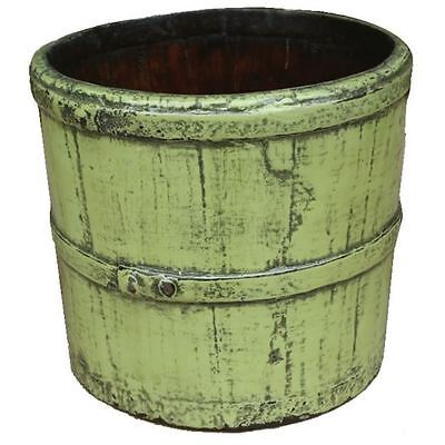 Antique Green Painted Decoration Water Bucket (24-075)