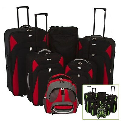 Single Or Set Quality Designer Travel Light Weight Luggage Expandable Suitcases