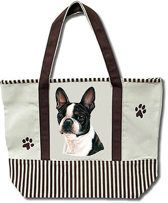 Tote Bag Cotton Canvas Extra Large NEW Boston Terrier
