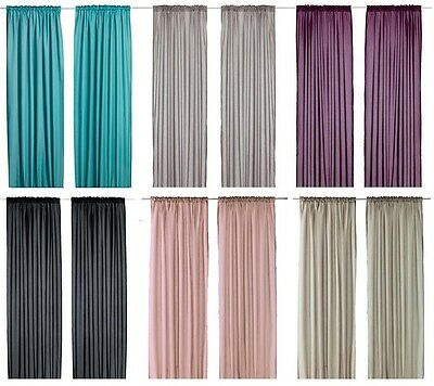 White Curtains black and white curtains ikea : Ikea VIVIAN Pair of Curtains Drapes 2 panels Purple Black Blue ...
