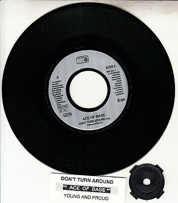 "ACE OF BASE  Don't Turn Around 7"" 45 rpm vinyl record NEW + juke box title strip"