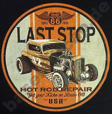 T-Shirt LAST STOP, Hot Rod Dragster US-Cars Classic-Car Oldtimer Route66 USA 257