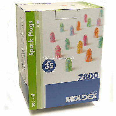 Moldex 400 Ear Plugs 200 Pairs Of 7800 Spark Plugs Earplugs 1  Box