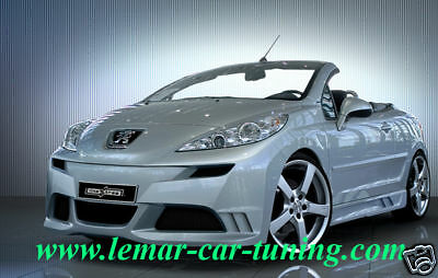 Paraurti anteriore tuning Peugeot 207 Linextras in vtr