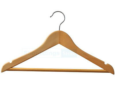 20x Childrens Shirt Wooden Hangers / Coat, Timber, Clothing, Clothes, Kids /