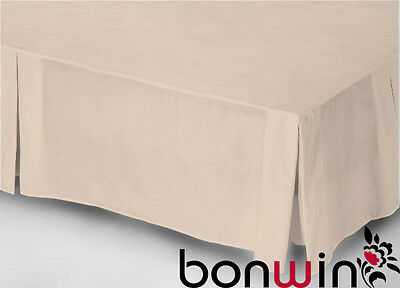 King Size Bed 100% Egyptian Cotton 1000Tc Valance/bed Skirt-Mocha