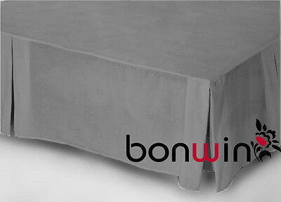 100% Egyptian Cotton 1000TC Valance Bed Skirt in Pewter for King Size Bedding