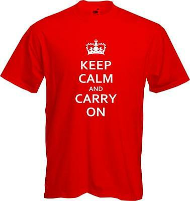 Keep Calm And Carry On - Quality T-shirt