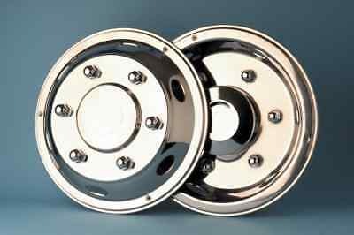 """4 x  17.5"""" Leyland DAF deluxe wheel trims hub caps covers stainless steel"""
