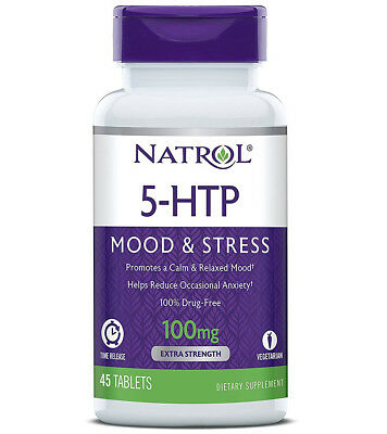 NATROL - 5 HTP 100 mg Time Release - 45 Tablets