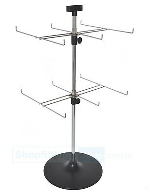 Counter Top 2 levels 6 Prong Spinner Display Stand Rack SPIN-SP100