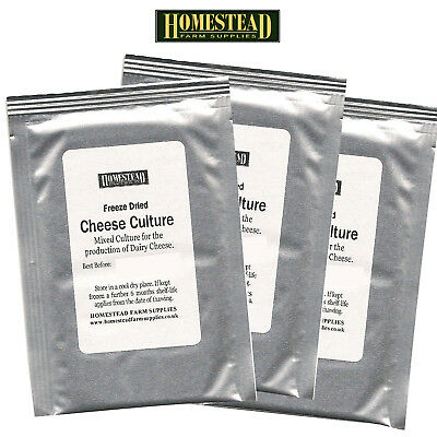 Cheese Culture For Cheese Making  - 3 Packs
