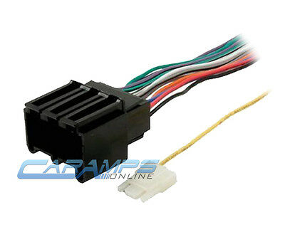 ★ CAR STEREO CD PLAYER WIRING HARNESS WIRE ADAPTER PLUG FOR AFTERMARKET RADIO ★