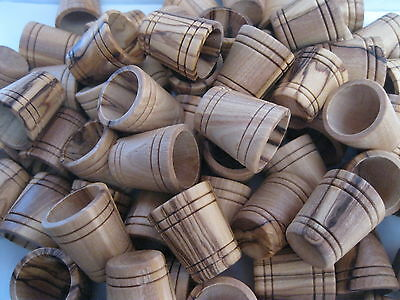 12 PCS OLIVE WOOD WOODEN THIMBLES FROM BETHLEHEM / HOLY LAND .. sewing