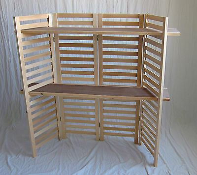 """Panel Display, 4 Section Unit 47-3/4"""" Tall - (2) Shelves"""