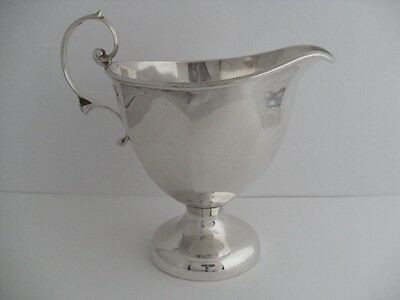 Beautiful Solid Silver Cream Jug Creamer Birmingham 1918