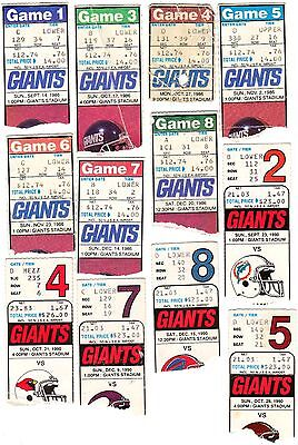 1986 1990 Superbowl Xxi 21 Xxv Champions New York Giants Ticket Stub Pick 1