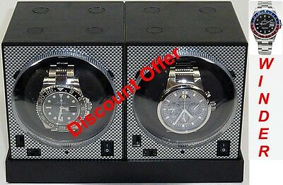 Boxy Brand Brick Dual Automatic Watch Winder System 2E2  stackable! - Brilliant!
