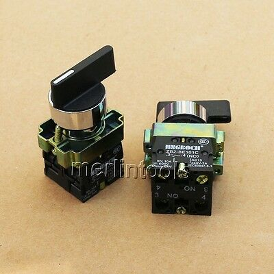 2Pcs ON/OFF/ON Twist 3 Position Selector Switch