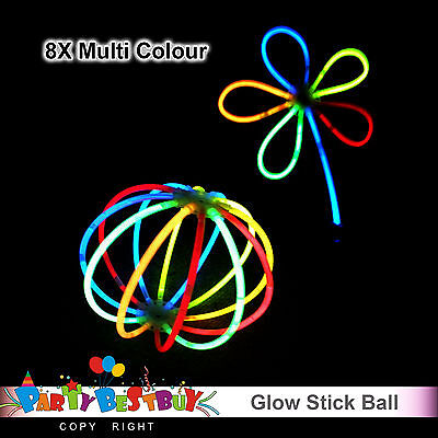 8X Multi Color glow sticks ball flower Light shining Party Toy Glow In The Dark