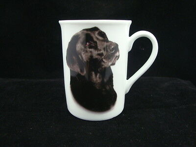 12x Coffee/ Tea mug white fine china dog design Labrador black Wholesale bulk