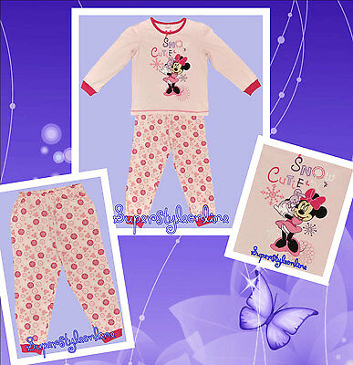 Girls Disney Pyjamas Minnie Mouse Pink Pj's Toddler 6 12 18 Baby Kids 2 3 4