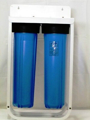 """2-20"""" Big Blue Housing With Stand Bracket For 4,5"""" X 20"""" Filter/cartridge  1"""""""