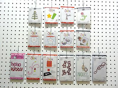 Sizzix Sizzlits Single Dies Christmas Clear Frames Halloween Phrases Shapes Tags