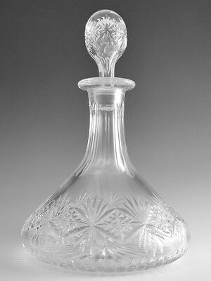 Thomas WEBB Crystal - REGENCY Cut - Ships Decanter - 10 1/2""