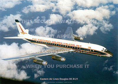 Eastern Air Lines Douglas Dc-8 Dc8 A3 Poster Print Picture Photo Image