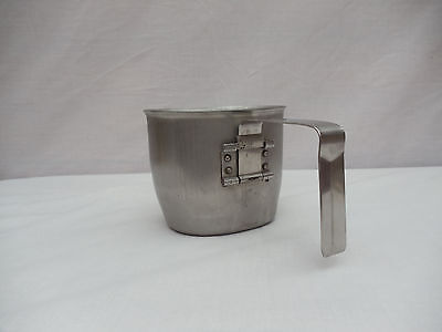 Metal Cup With Folding Handle Stainless Steel Us Ww2