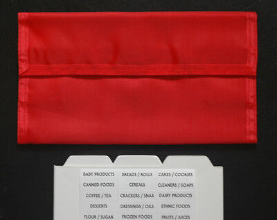Red Deluxe Hannah Hansen Coupon Organizer Expandable w// 2 FREE Extra Organizers