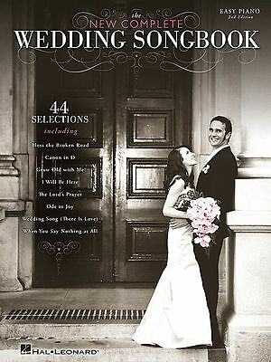 THE NEW COMPLETE WEDDING Song Book *NEW* Easy Piano Sheet Music Inc. Canon