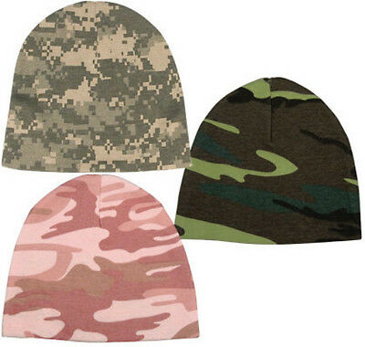 Military US Army ACU USMC Pink Woodland Camo Infant Baby Cradle Crib Cap Hat
