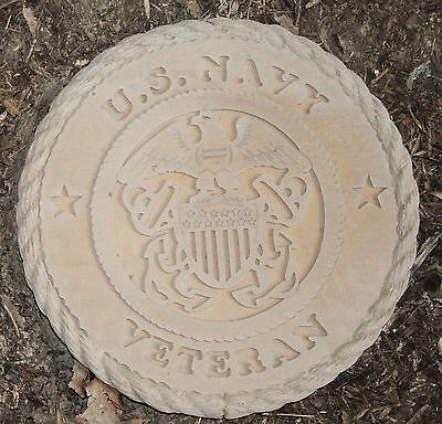 "United States NAVY Veteran Garden Stone (Plain) - NEW  - 11"" X 1"" - Made in US!"