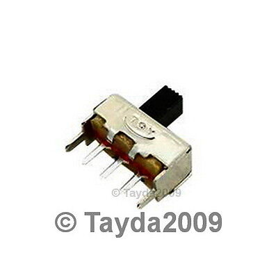 5 x Slide Switch 1P2T Through Hole 0.5A 50VDC - FREE SHIPPING