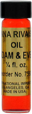 One bottle Anna Riva Adam and Eve Oil, 2 dram (1/4 oz.) ~ Magick Wicca Pagan