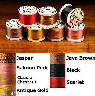 PEARSALL NAPLES SILK THREAD  - sold individually or lot  fly tying rod wrapping