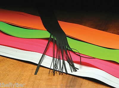 HARELINE'S ROUND RUBBER LEGS - Medium Size  12 colors Available for Fly Tying