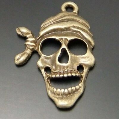 30X Vintage Style Bronze Tone Pirate Pendant Charms 24*19mm