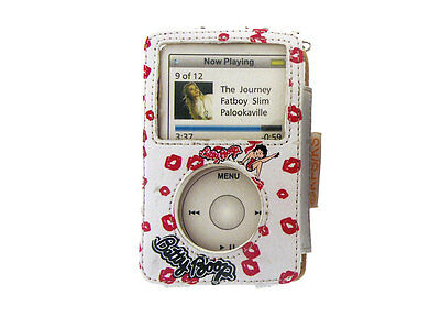 Betty Boop Porta Ipod Video Bianco Pelle Baci Amore