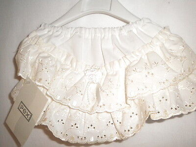 Baby Frill Pants By Pex Style Blossom Frillies Size 0/6 6/12 12/18 18/24 Ivory